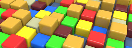 Färgrika kuber Arkivbild