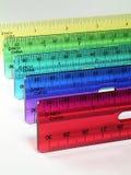 färgrika linjaler Arkivfoton