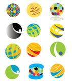 färgrika logoer Royaltyfri Fotografi