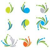 färgrika logoer för samling Arkivfoto