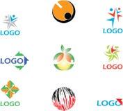 färgrika logoer för samling Royaltyfria Foton