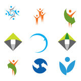 färgrika logoer för samling Arkivfoton