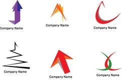 färgrika logoer för samling Arkivbilder