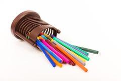färgrika pennor Royaltyfri Bild