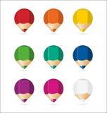 färgrika setetiketter Fotografering för Bildbyråer