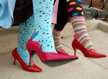 färgrika sockor Royaltyfri Fotografi