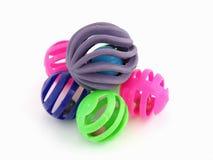 färgrika toys för katt Royaltyfri Fotografi