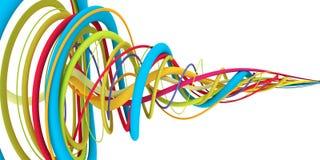 Färgrika trådar Arkivbild