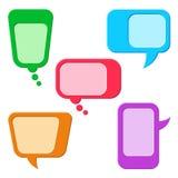 Färgrikt anförande bubblar eller konversationmoln Royaltyfri Foto