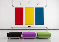 färgrikt galleri för konst Royaltyfri Fotografi