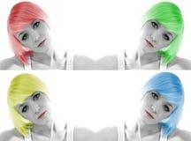 färgrikt hår Royaltyfri Fotografi