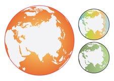 färgrikt jordklot Royaltyfri Fotografi