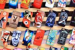 Färgrikt mobilt fall Fotografering för Bildbyråer
