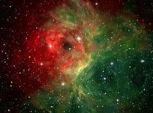 färgrikt nebulaavstånd Arkivfoton