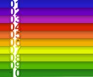 Färgrikt numrerat baner Royaltyfri Fotografi