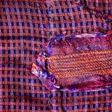 Färgrikt thai peruanskt slut för stilfiltyttersida upp Mer av detta motiv & mer textiler i min port tatter den gamla trasan Arkivbild
