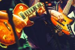 Färgrikt vagga - och - rullar musikbakgrund Arkivfoton