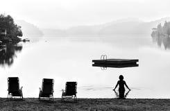 Früher Morgen-Schwimmen Lizenzfreie Stockbilder