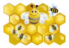 Fröhliche Biene Lizenzfreies Stockfoto