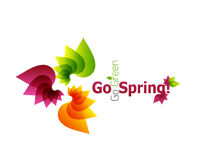 Frühlingsblumen-Zusammenfassungshintergrund Stockfotos