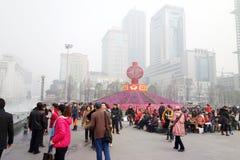 Frühlingsfest mit 2013 Chinesen in Chengdu Stockbilder