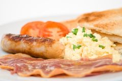 Frühstück-nahes hohes Stockbild