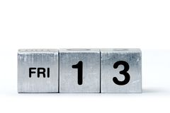 FRI-13 cubes Stock Photos
