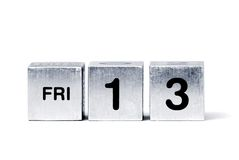 FRI-13 cubes Royalty Free Stock Photo