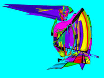 Fri abstrakt yacht vektor illustrationer
