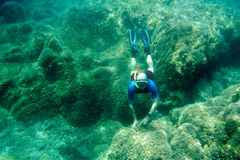 Fri dykare Arkivfoton