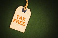 fri etikettsskatt Arkivbild