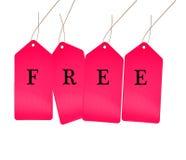 Fri försäljningsetikett Arkivfoton