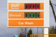 Fri gas, billigt bränsle Arkivfoton
