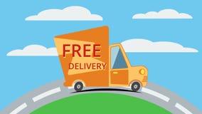 Fri leveransskåpbil vektor Arkivbilder