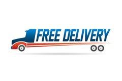 Fri logo för bild för leveranslastbil Arkivbilder