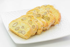 Fri mandelbiscotti för gluten Royaltyfri Fotografi