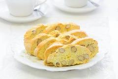 Fri mandelbiscotti för gluten Royaltyfria Bilder