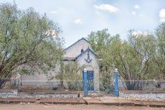 Fri murarebyggnad i det fria statliga landskapet Fotografering för Bildbyråer