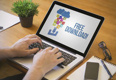 Fri nedladdning för datorskrivbord Royaltyfri Bild