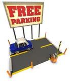 fri parkering Fotografering för Bildbyråer