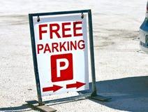 fri parkering Royaltyfria Bilder