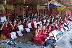 fri rörelse tibet Royaltyfria Bilder