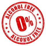 Fri rubber stämpel för alkohol royaltyfri illustrationer