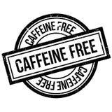 Fri rubber stämpel för koffein royaltyfri illustrationer