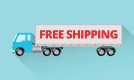 Fri sändnings - halv lastbil Stock Illustrationer