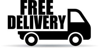 Fri symbol för leveranslastbil stock illustrationer