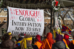 Fri Tibet mars Arkivbild