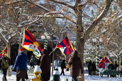 Fri Tibet mars Arkivfoton