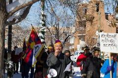 Fri Tibet mars Arkivfoto