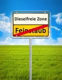 Fri zon för diesel - ingen som består av partiklar fråga Arkivbilder
